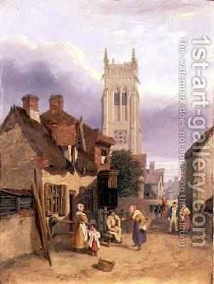 Cromer Church Norfolk by Henry Ninham - Reproduction Oil Painting