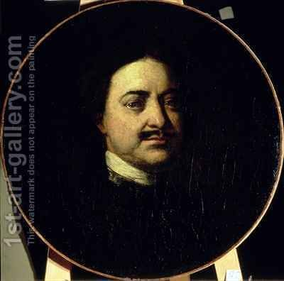 Portrait of Peter I the Great 1672-1725 by Ivan Nikitich Nikitin - Reproduction Oil Painting