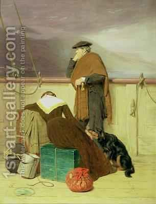 John Watson Nicol: Lochaber No More 1883 - reproduction oil painting