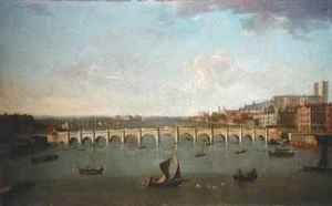Joseph Nichols reproductions - A View of the River Thames at Westminster Bridge