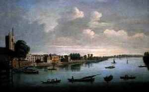 Joseph Nichols reproductions - A View of the Thames from Putney Bridge