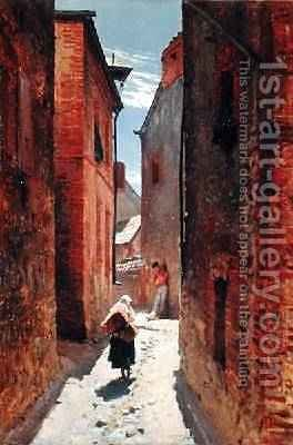 Street in the Old Town 1873 by Alphonse Marie de Neuville - Reproduction Oil Painting