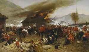 Romanticism painting reproductions: The Defence of Rorkes Drift 1880