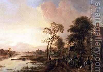 Evening Landscape by Aert van der Neer - Reproduction Oil Painting