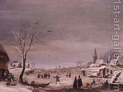 Winter Landscape 4 by Aert van der Neer - Reproduction Oil Painting