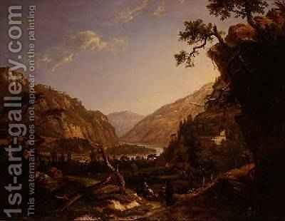 Rocky River Landscape in the Tyrol by Alexander Nasmyth - Reproduction Oil Painting