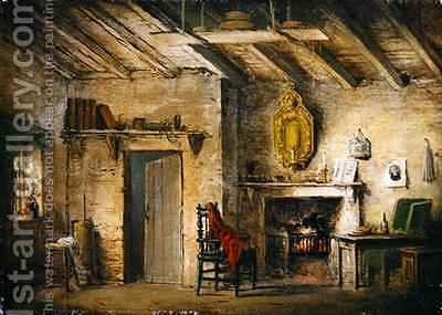 The Deans Cottage stage design for The Heart of Midlothian by Alexander Nasmyth - Reproduction Oil Painting