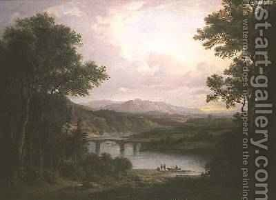 Melrose by Alexander Nasmyth - Reproduction Oil Painting