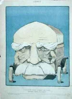 Endurant Solide Boit lObstacle caricature of Georges Clemenceau 1841-1929 as a truck from La Baionnette 1914-18