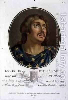 Portrait of Louis IX Called St Louis King of France 1215-70 by (after) Naigeon, Jean Claude - Reproduction Oil Painting