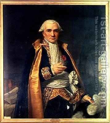 Portrait of Gaspard Monge 1746-1818 Count of Peluse 1841 by (after) Naigeon, Jean Claude - Reproduction Oil Painting