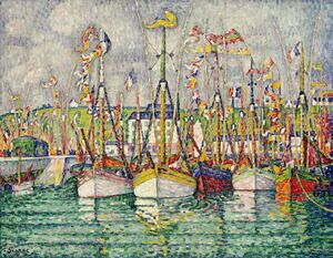 Famous paintings of Nautical: Blessing of the Tuna Fleet at Groix 1923