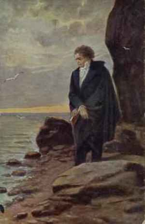 Kamil Vladislav Muttich reproductions - Beethoven looking at the sea 1918