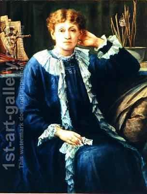 Portrait of Emilie Barrington late 1880s by J. H. Gibbons - Reproduction Oil Painting