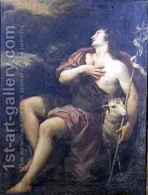St John the Baptist by (after) Murillo, Bartolome Esteban - Reproduction Oil Painting