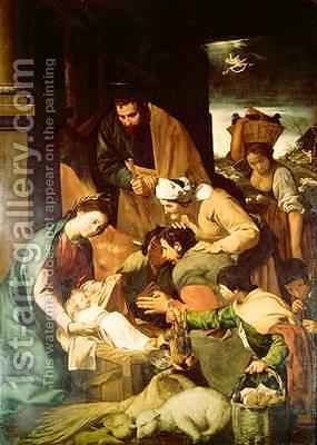 Adoration of the Shepherds 1630 by (after) Murillo, Bartolome Esteban - Reproduction Oil Painting