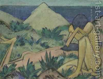 Huge version of Nudes in Dunes 1919-20