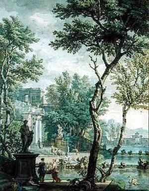Rococo painting reproductions: Ideal Palace and Park