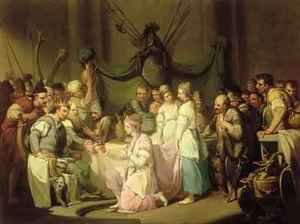 Rococo painting reproductions: The Meeting of Vortigern and Rowena