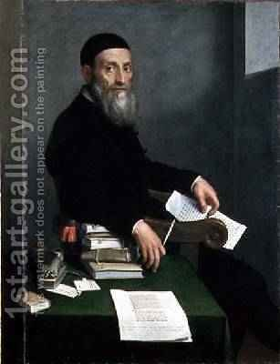 Portrait of Giovanni Bressani by Giovanni Battista Moroni - Reproduction Oil Painting