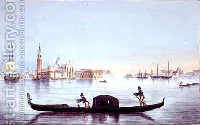 Venetian Gondola by (after) Moro, Marco - Reproduction Oil Painting
