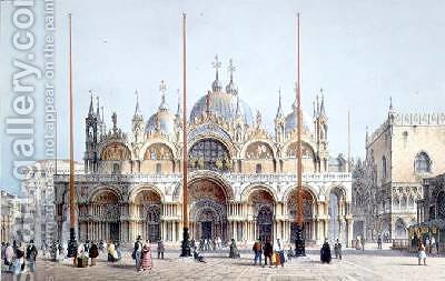 San Marco Venice by (after) Moro, Marco - Reproduction Oil Painting
