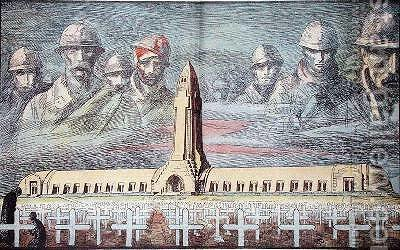 Huge version of Illustration from Le Pelerin of the Ossuary at Douaumont 1st World War memorial inaugurated in August 1932