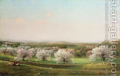 Apple Orchard 1878 by Nelson Augustus Moore - Reproduction Oil Painting