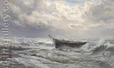 Stormy Seas 1874 by Henry Moore - Reproduction Oil Painting