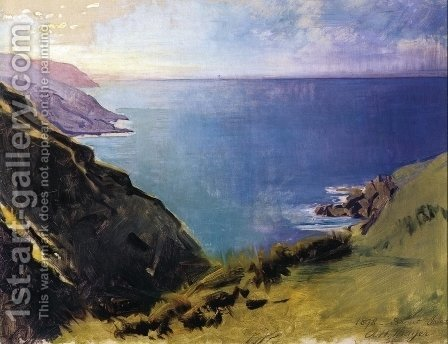 Cornish Headlands by Abbott Handerson Thayer - Reproduction Oil Painting