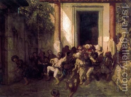 The End of a Turkish Schol Day by Alexandre Gabriel Decamps - Reproduction Oil Painting