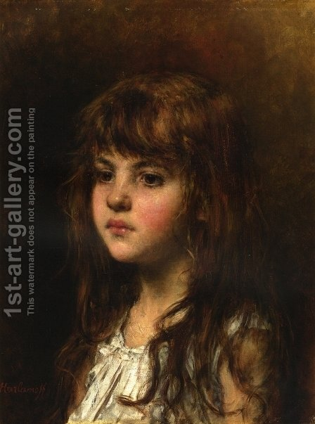 Sonia by Alexei Alexeivich Harlamoff - Reproduction Oil Painting