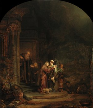 Reproduction oil paintings - Rembrandt - La Visitation,detroit 1640