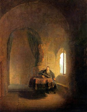 Reproduction oil paintings - Rembrandt - Philosopher Reading