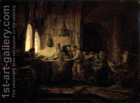 The Parable of the Laborers in the Vineyard by Rembrandt - Reproduction Oil Painting