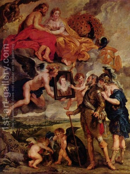 Rubens: Henry IV Receives the Portrait - reproduction oil painting