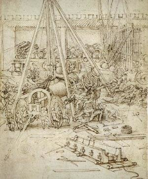 Reproduction oil paintings - Leonardo Da Vinci - Artillery
