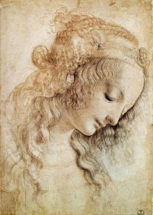Reproduction oil paintings - Leonardo Da Vinci - Head of a Woman 2