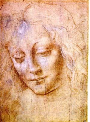 Reproduction oil paintings - Leonardo Da Vinci - Head of a Young Woman