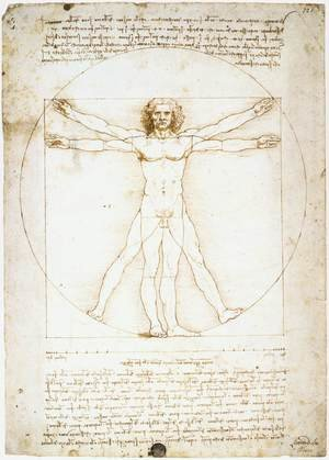 Reproduction oil paintings - Leonardo Da Vinci - man proportions
