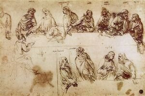 Reproduction oil paintings - Leonardo Da Vinci - Study for the Composition of the Last Supper