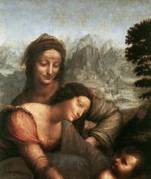 Reproduction oil paintings - Leonardo Da Vinci - The Virgin and Child with St Anne (detail) 1