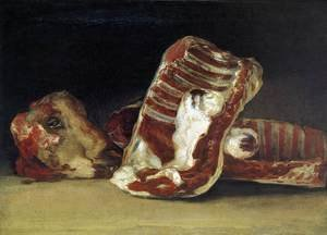 Reproduction oil paintings - Goya - A Butcher's Counter