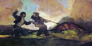 Reproduction oil paintings - Goya - Duel with Cudgels