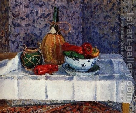 Still Life with Spanish Peppers by Camille Pissarro - Reproduction Oil Painting