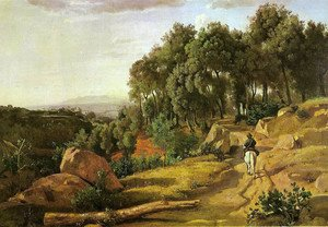 Reproduction oil paintings - Jean-Baptiste-Camille Corot - A View near Volterra
