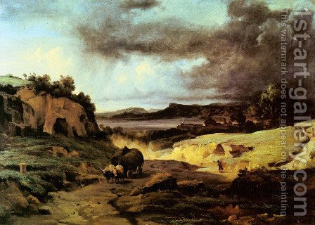 La Cervara, the Roman Countryside 2 by Jean-Baptiste-Camille Corot - Reproduction Oil Painting