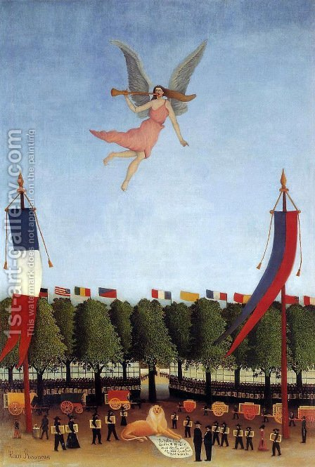 Liberty Inviting Artists at the Society of Independent Artis by Henri Julien Rousseau - Reproduction Oil Painting