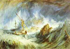 Reproduction oil paintings - Turner - A Storm (Shipwreck)