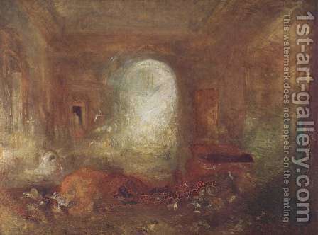 Turner: Interieur in the Petworth House - reproduction oil painting